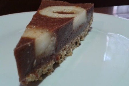 CHEESECAKE DE PERAS Y CHOCOLATE