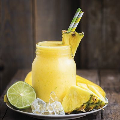 Granita all'ananas e lime